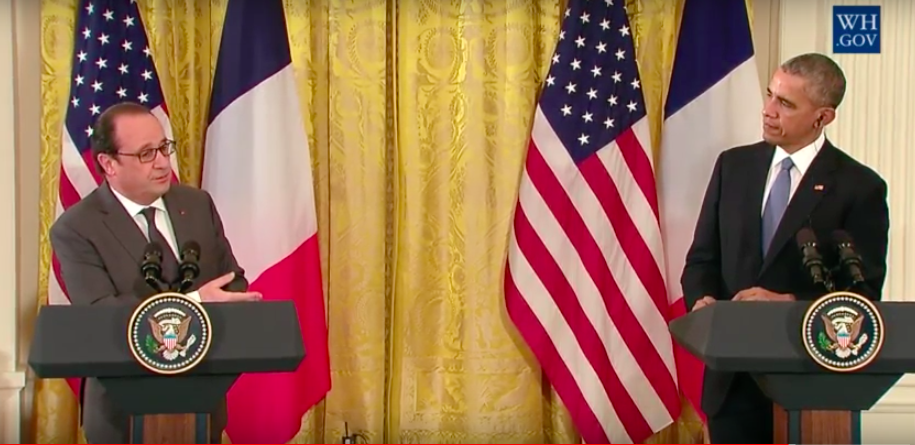 Climate of urgency: French President François Hollande met with President Obama this week to talk about global security, as well as the upcoming 2015 United Nations Climate Conference of Parties (COP 21) in Paris.