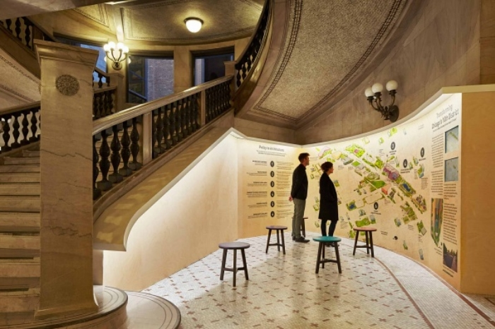 Open to the public: Polis Station is just one of many designs on display through Jan. 3 at the Chicago Cultural Center.
