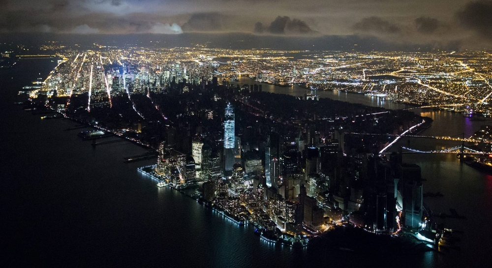 Dark night:Second costliest storm in U.S. history, 'Sandy'cut power to much of NYC in 2012. (Photo byIwan Baan)