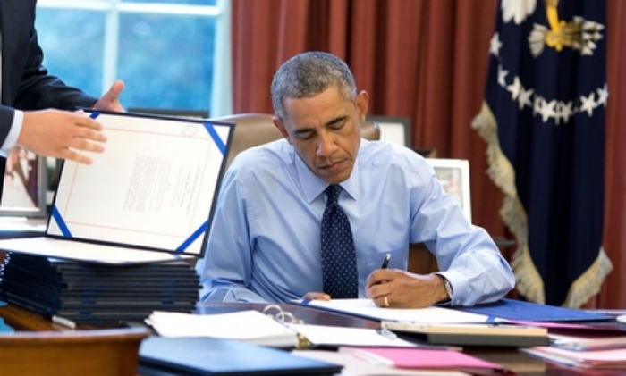 More gray hairs: President Obama today signed the first long-term highway bill of his Administration. (White House)