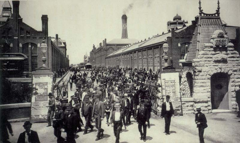 Gilded rage: Workers famously walked out on Pullman in 1894.