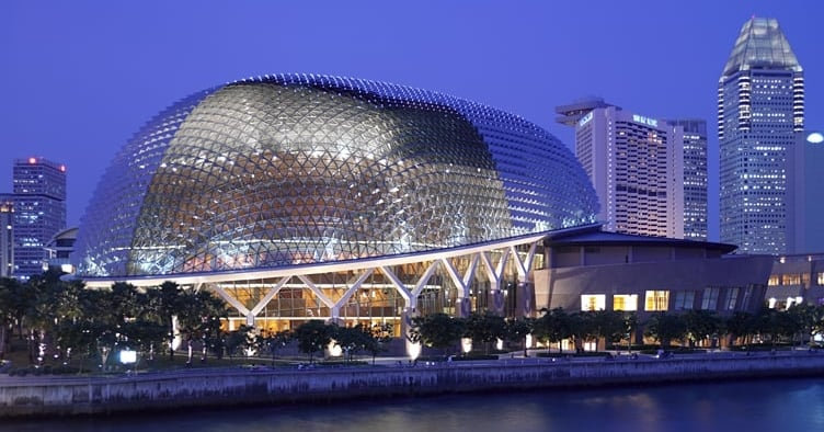 Singapore's stunning Esplanade uses a cladding of exterior Durian spikes that shift daily with the position of the sun.