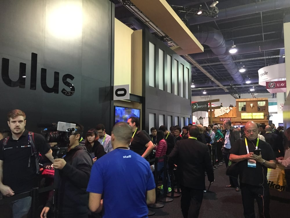 The wrap around line at for the OculuS Rift