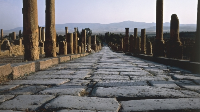 Empire building: The Roman army used concrete to build the roads that connected the vast Roman empire. By layering sand, cement, and stone, they created durable roads that lasted long after the fall of empire, itself.
