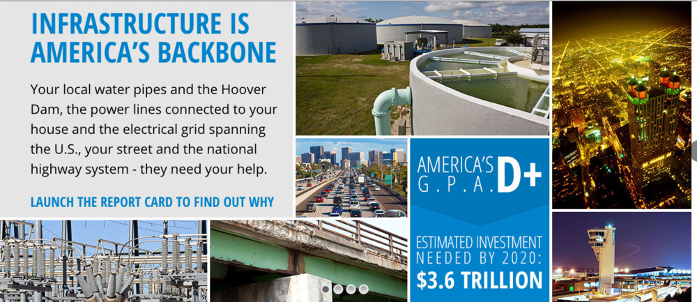 ASCE Infrastructure Report Card, 2013: Grades are updated every three years. Brace yourself for the 2016 edition.