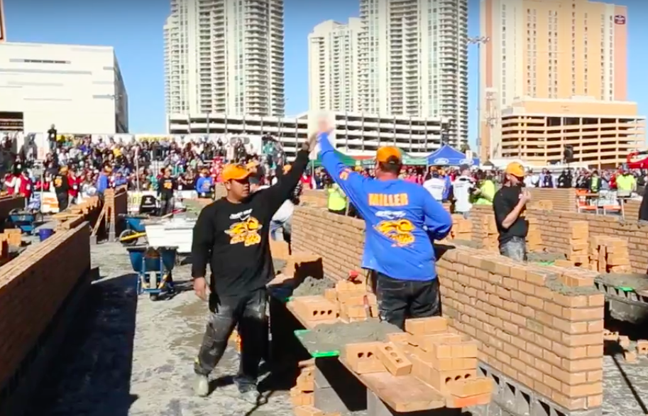 "Miller time! The ""World's Best Bricklayer Competition"" was among the many highlights of a seriously upbeat event."