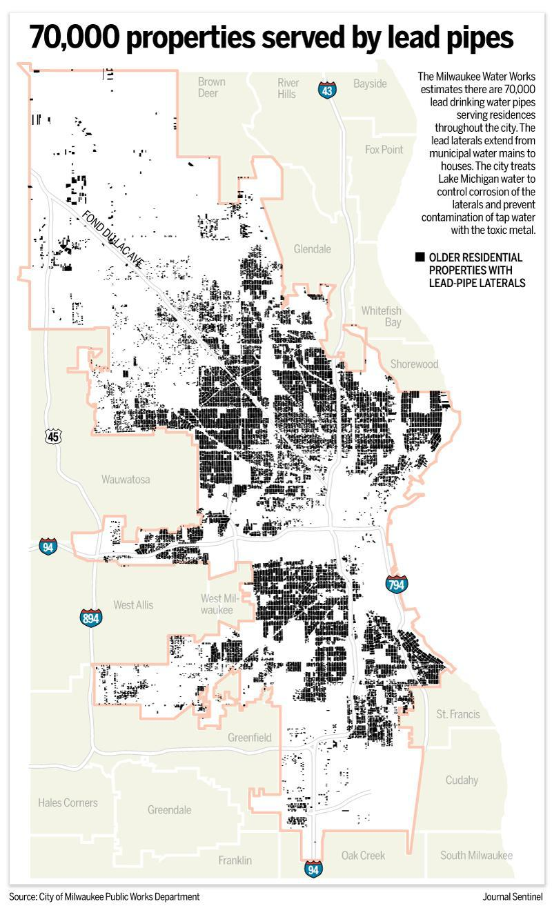 Milwaukee Public Works data mapped by the Journal Sentinel.