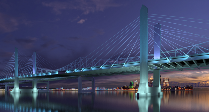 Stantec's historical strengths have been in infrastructure, including projects like this dramatic bridge in Louisville KY.