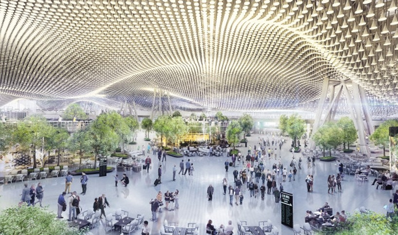 Hard shell, not hard sell: RSHP design for the new Taoyuan Airport features an undulating, wave-like roof that mimics natural landscapes and surrounding seas, and creates an oasis protected beneath a hard shell.