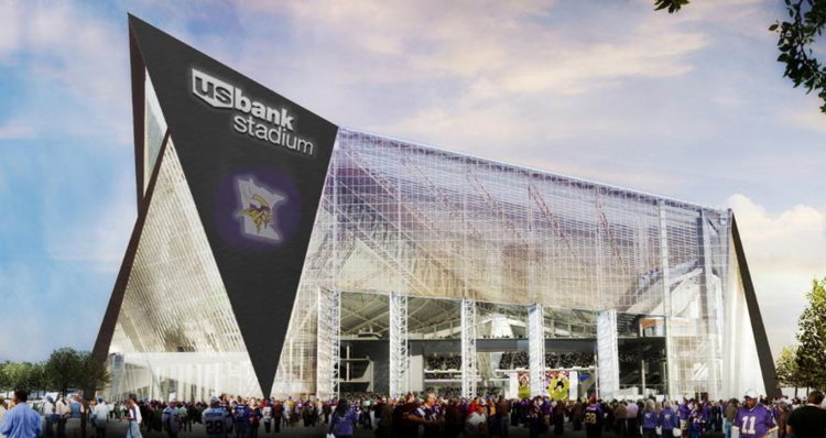 New Vikings Stadium's $1.1-bil tab is being split with taxpayers.