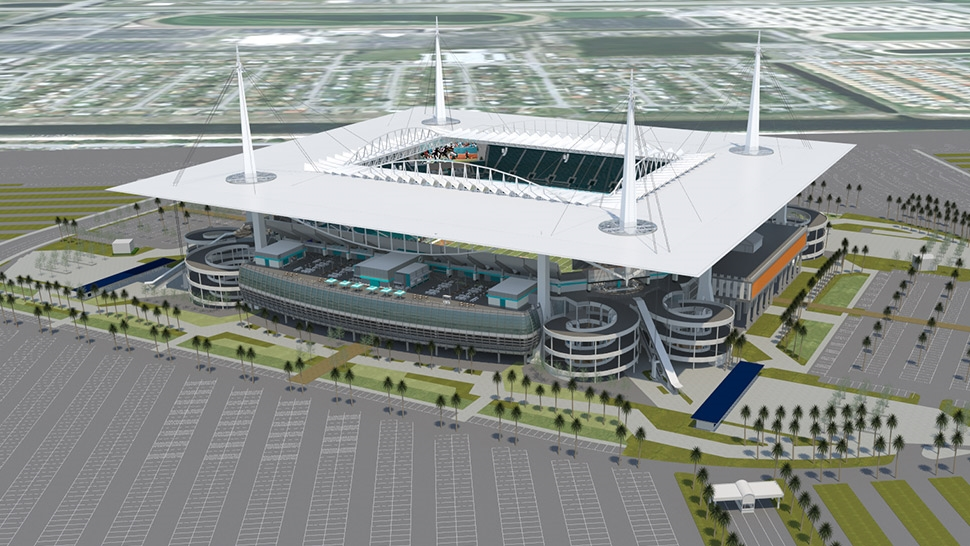 Miami mix: The Dolphins are spending $350 million on upgrades, but will earn grants by hosting non-NFL events.