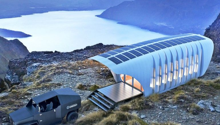 3D-Printed Power House?Oak Ridge National Laboratory and design giant SOM are currently working on AMIE 1.0, a demonstration project that features a 3D-printed enclosure powered with renewable energy from a 3D-printed vehicle.