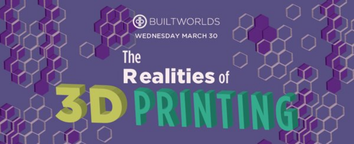 Wednesday,March 30: This month, multi-dimensional maker magic comes to BW. For details and tix, click here.
