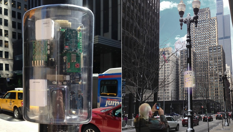 Big Data, Big City: Sensors like these arrived in Chicago last fall as part of an Array of Things pilot project.