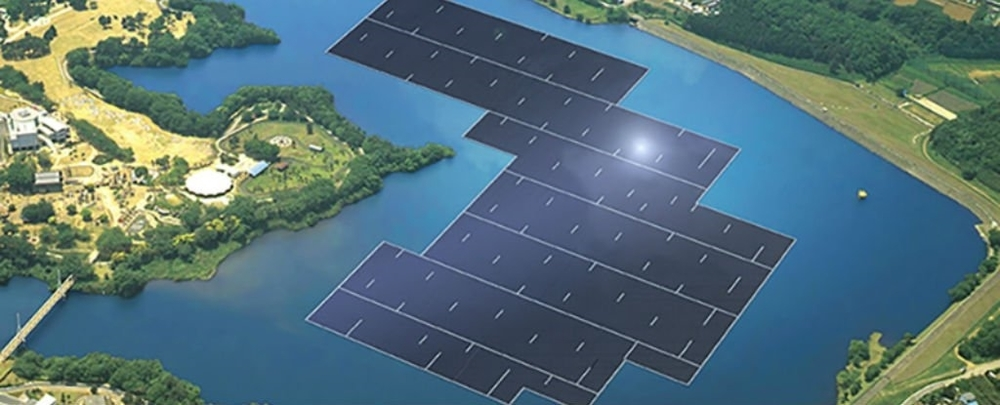 Here comes the sun: A rendering of Kyocera's planned record-setting solar array, set to open in Japan in 2018.