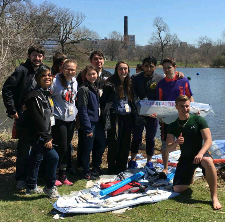 Perfect hosts! Their canoe came apart, but the Illinois Tech team hung together to put on a great event.