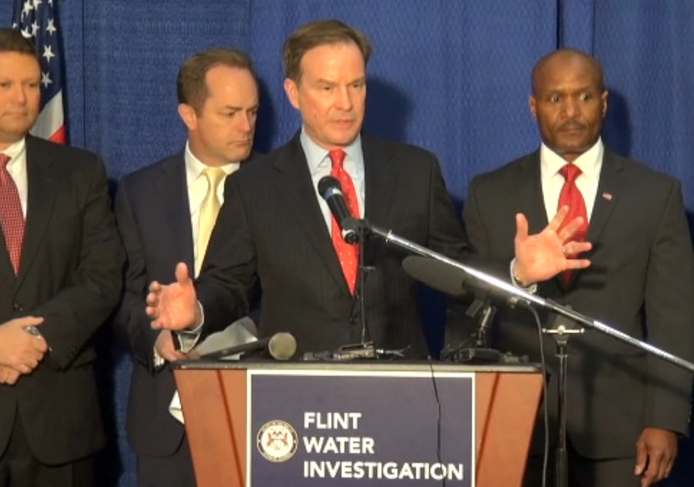 Rebuilding trust: Michigan Attorney General Bill Schuette yesterday said criminal charges are just the start.