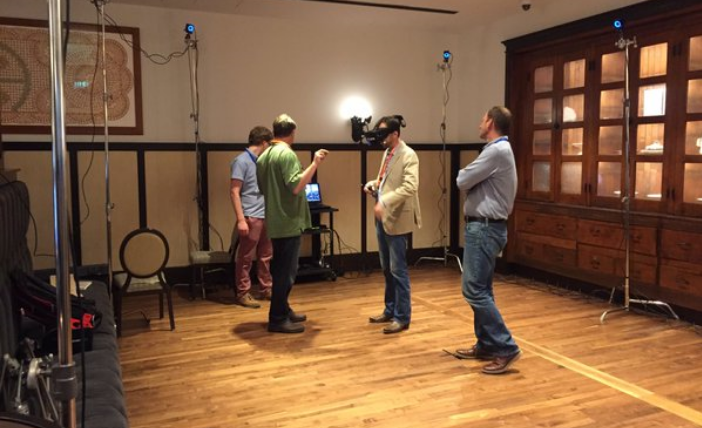 Virtual highlights: Throughout the event, VRstudios' Brian Vowinkel walked guests through wild simulations.