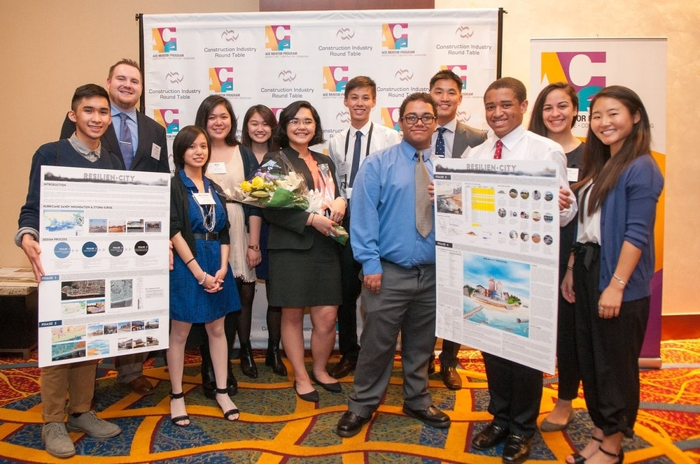 "Big winner: ACE of Greater NYC/Team 30 won the top prize and $5,000 for its ""RESILIEN-City"" shoreline design."