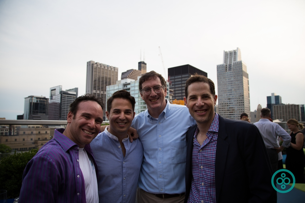 Some of the BuiltWorlds team enjoying the night (from left to right):  Matthew Abeles ,  Ian Manger ,  Robert McManamy , and  Matt Gray .