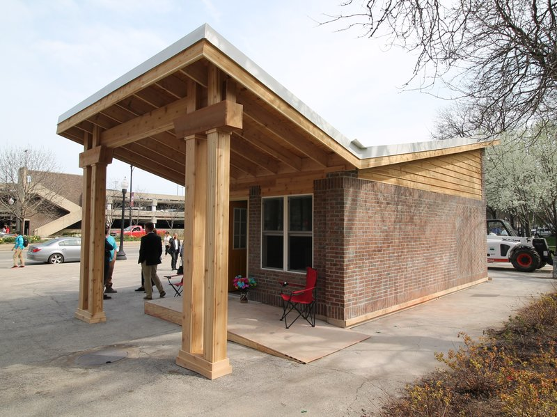 Tiny dreamhouse. The winning design for the American Institute of Architects' competition to design a tiny house community for Chicago was built in two days and displayed at the University of Illinois, Chicago campus.