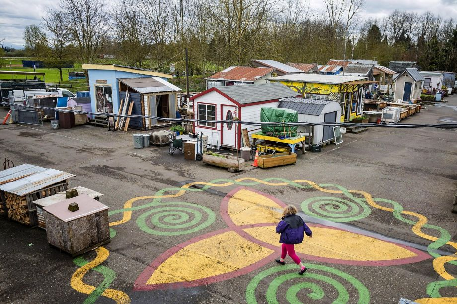 Portlandia Jr. Dignity Village is a housing community for the formerly homeless that consists of 43 units and can house as many as 60 people. In 2004, it was sanctioned by the Portland City Council as a tiny house village.
