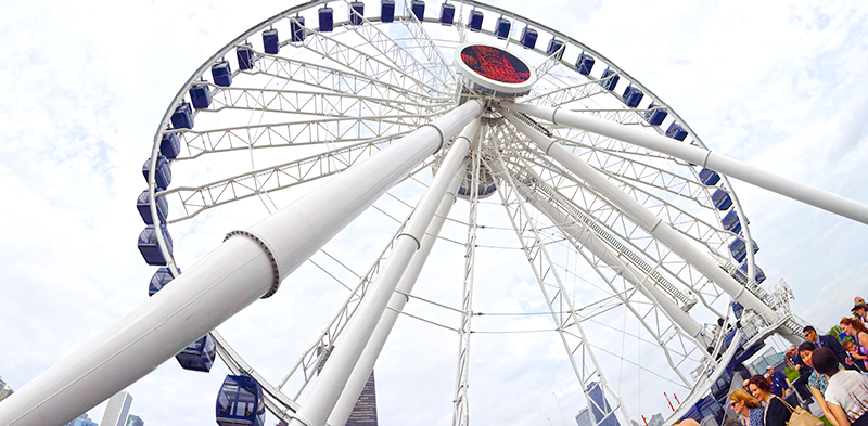 Icon reborn: Last week in Chicago, T-T unveiled Navy Pier's new Centennial Ferris wheel. (Time-lapse video at bottom).