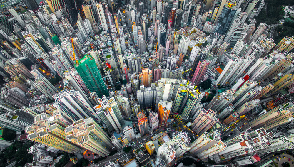 Urban Density: Photographer Andy Yeung used drones to capture Hong Kong's breathtaking proximity earlier this year.