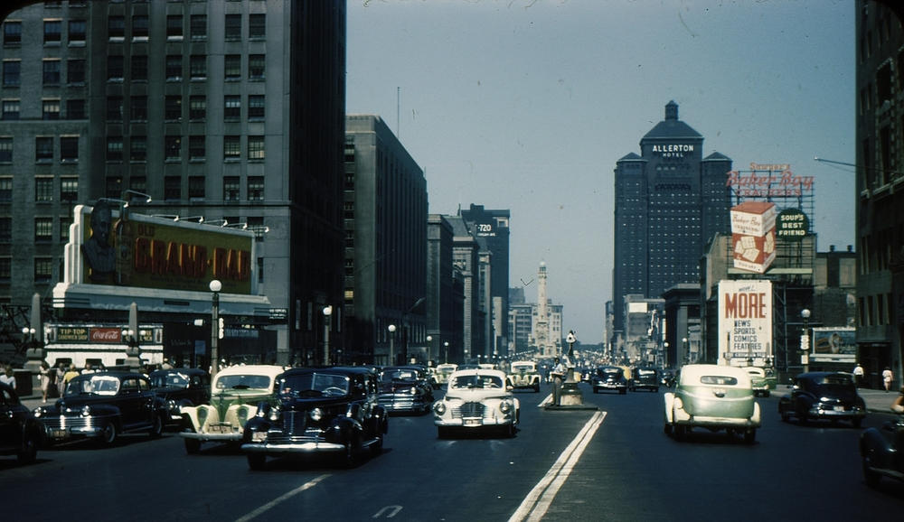 Chicago 1940s: Downtown traffic was less congested 70+ years ago. Today, there's a new plan for a more crowded reality.