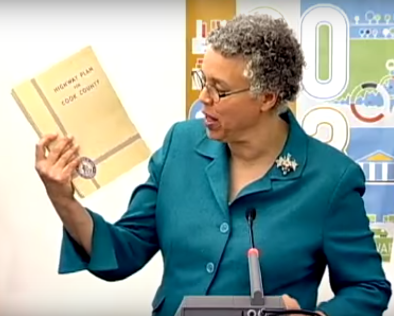 Preckwinkle held up a copy of the 1940 report when she launched the new study in February 2014.