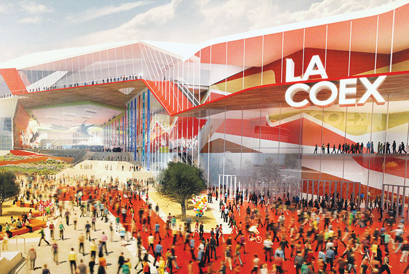 LA COEX is the $470-million plan to expand and modernize the city's aging convention center, which opened in 1971. The City Council approved the plan last December, as envisioned by the design team of Populous and HMC Architects.
