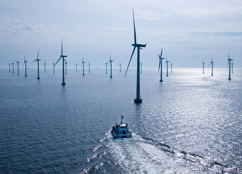 Sweden's Lillgrund Offshore Wind Farm uses 48 Siemens turbines, built nearly a decade ago in the Øresund Strait, between the Baltic and North Seas. Each turbine has a generating capacity of 2.3 Mw. (Photo: Siemens)