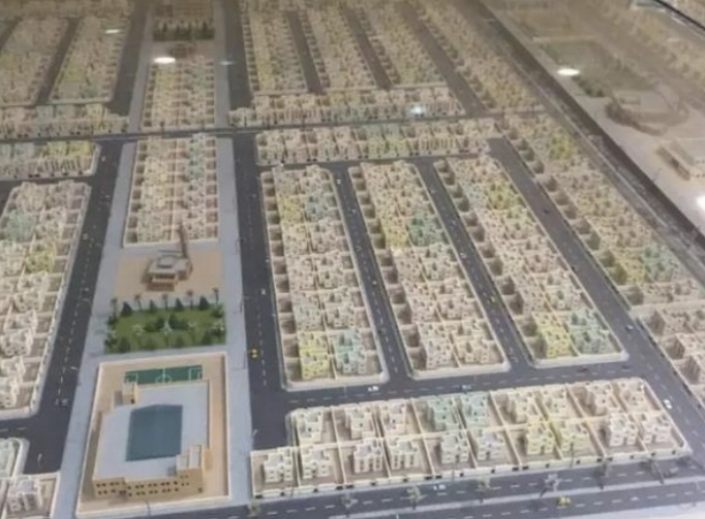 Saudi subdivisions: A cookie-cutter vision for solving the Kingdom's housing shortage. (Photos: WinSun Global.)