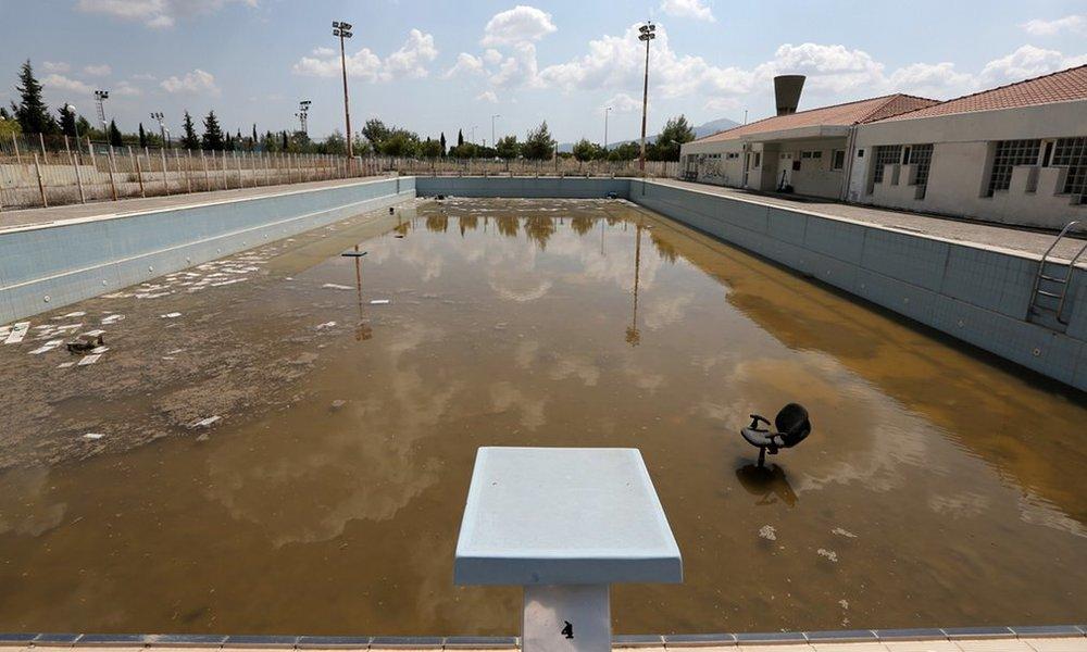 (2004 Summer Games, Athens) Training pool at The Village  Thanassis Starrakis | AP | 2014