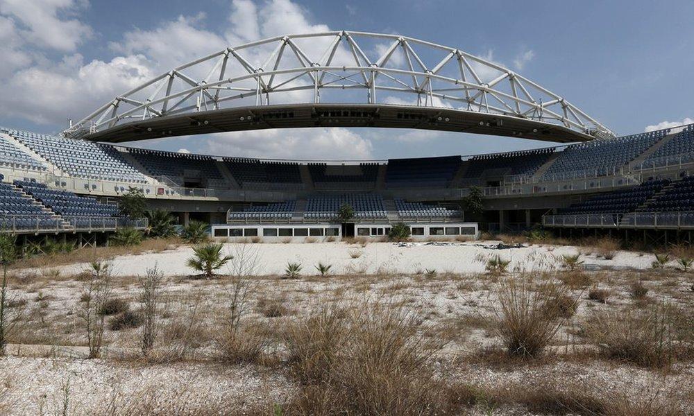 (2004 Summer Games, Athens)  Faliro Olympic Beach Volleyball Center  Thanassis Starrakis | AP | 2014