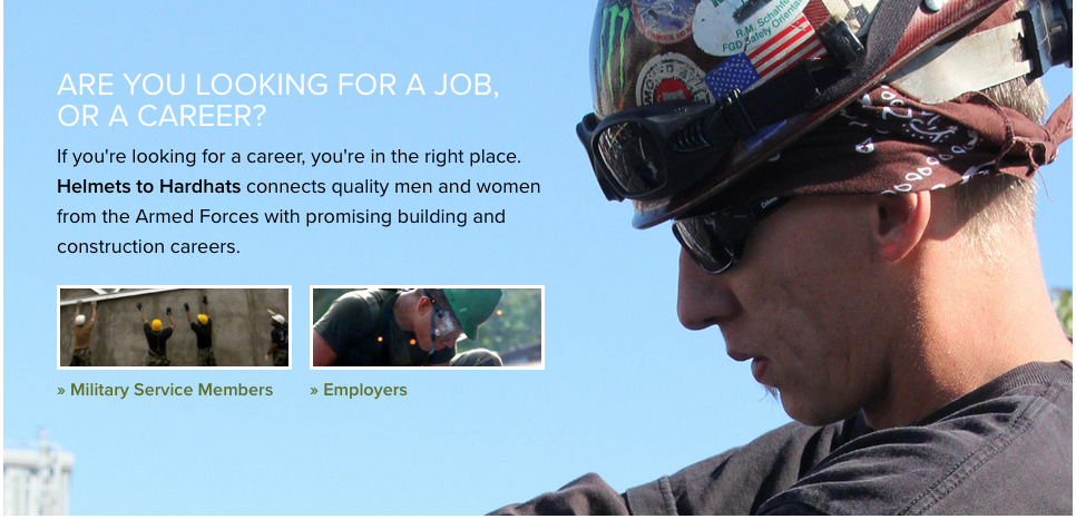 Helmets for all ages: Above, Helmets to Hardhats has been building a talent pipeline from the U.S. military since 2002. Below, EPC giant AMEC Foster Wheeler has a very fun career website designed to evoke our earliest hopes and dreams.