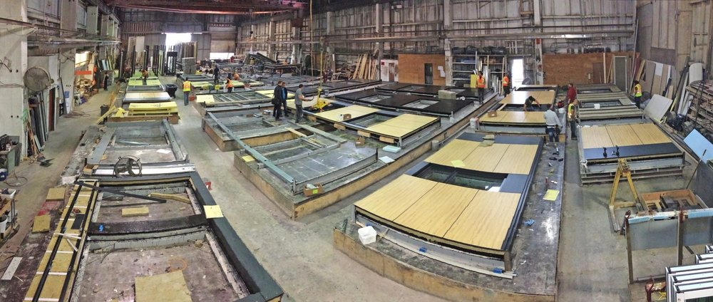 Mass timber: Prefabricated panels are glued into place and to each other. Watch below to see the assembly process.