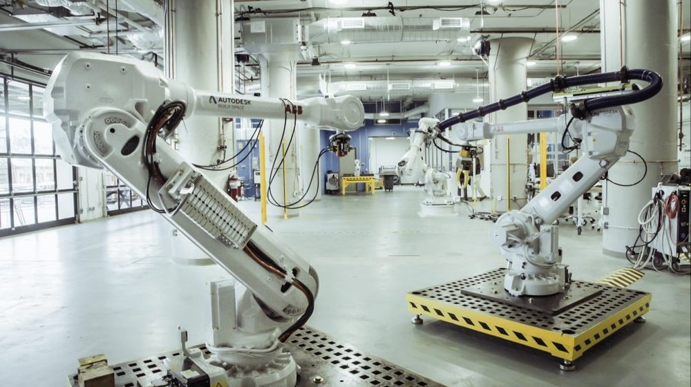 Have at it! Free to serious researchers, the new BUILD space features six large robots for experimentation.