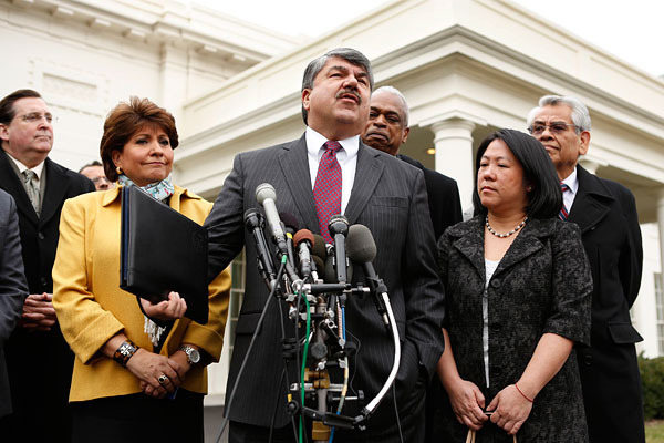 Richard L. Trumka, AFL-CIO president, speaking on labor reform at the White House in 2013.