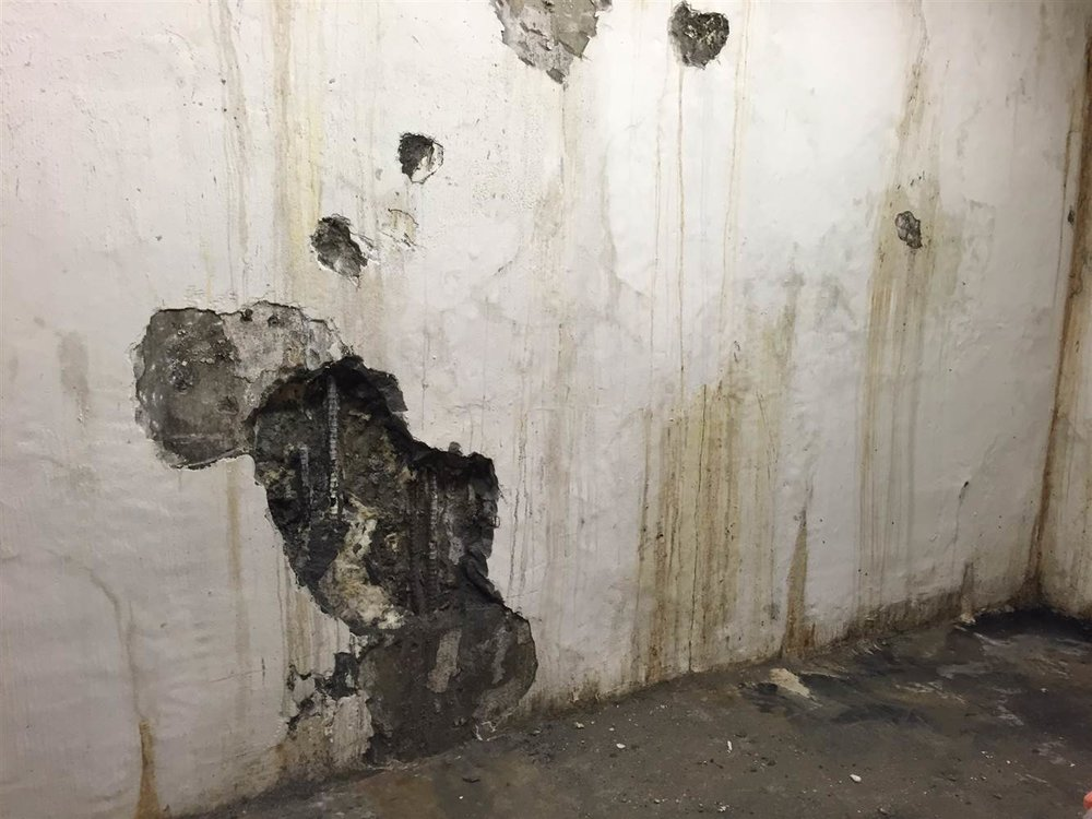 Plain sight: Late last year and in early January, city inspectors detected evidence of water intrusion in the basement levels of Millennium Tower.