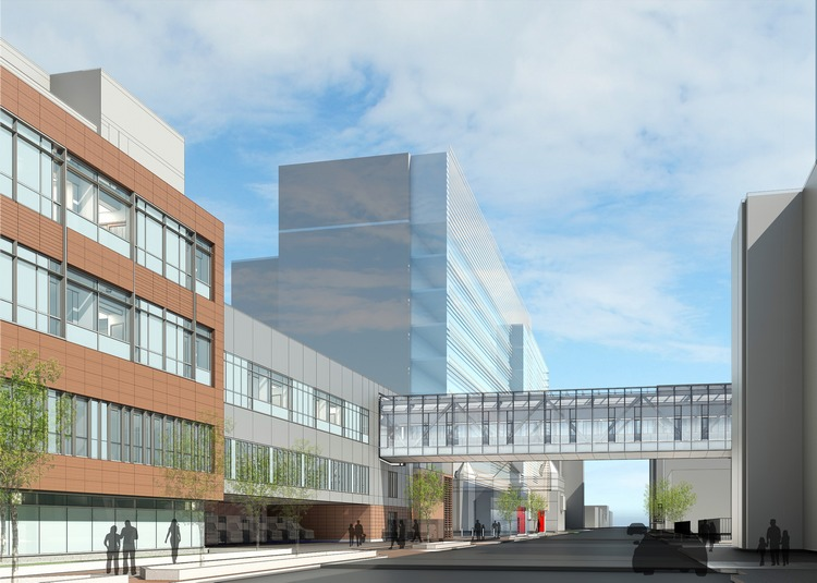 Good Medicine: Hospitals and medical centers were early champions of IPD and remain so. Suffolk currently is engaged in an IPD project involving a 120,000-square-foot addition to and 222,000 square feet in renovations for Boston Medical Center's Menino Pavilion. (Image courtesy of Medical Construction and Design)
