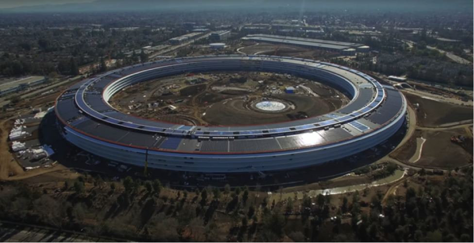 "Apple computer's new Campus (AC2) is the largest base Isolated building in the world. At $2,000 per square foot ($21,500/square meter), the building sits on 700 isolators and can handle 54 inches (137 cm) of lateral displacement. When money's no object you can build for ""the big one."" Source: Mathew Roberts"