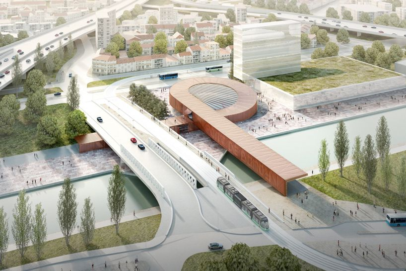 """Architecture with an A: Nine of Grand Paris Express's 68 new stations have been deemed """"emblematic,"""" including the structure depicted above, designed buy Bjarke Ingels Group."""