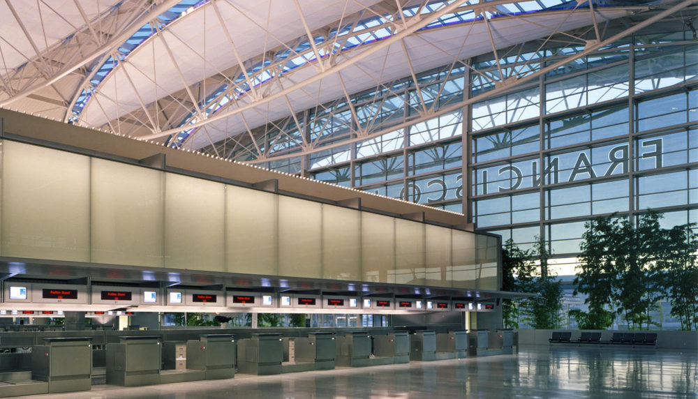 Take off: The new Terminal 1 at San Francisco International Airport will incorporate 66,000 square feet of the View system.