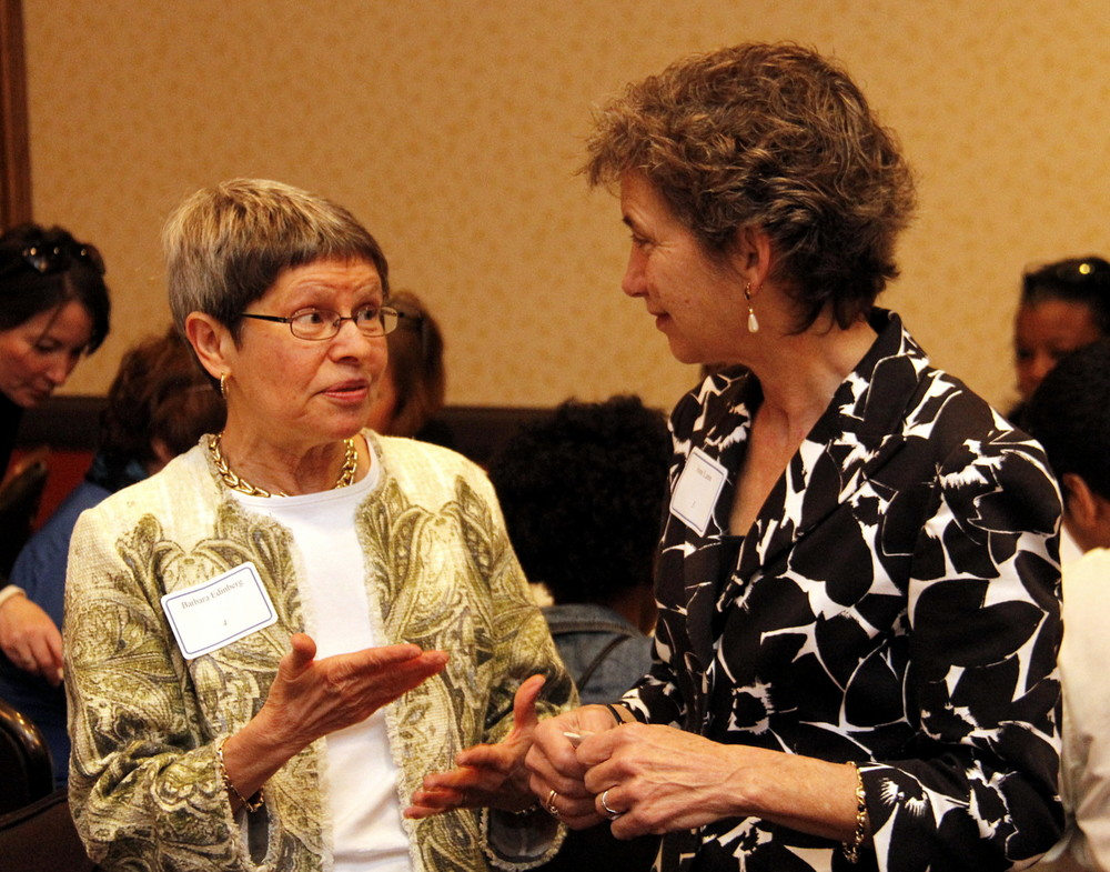 Community leaders Barbara Edinberg and Joan Lane
