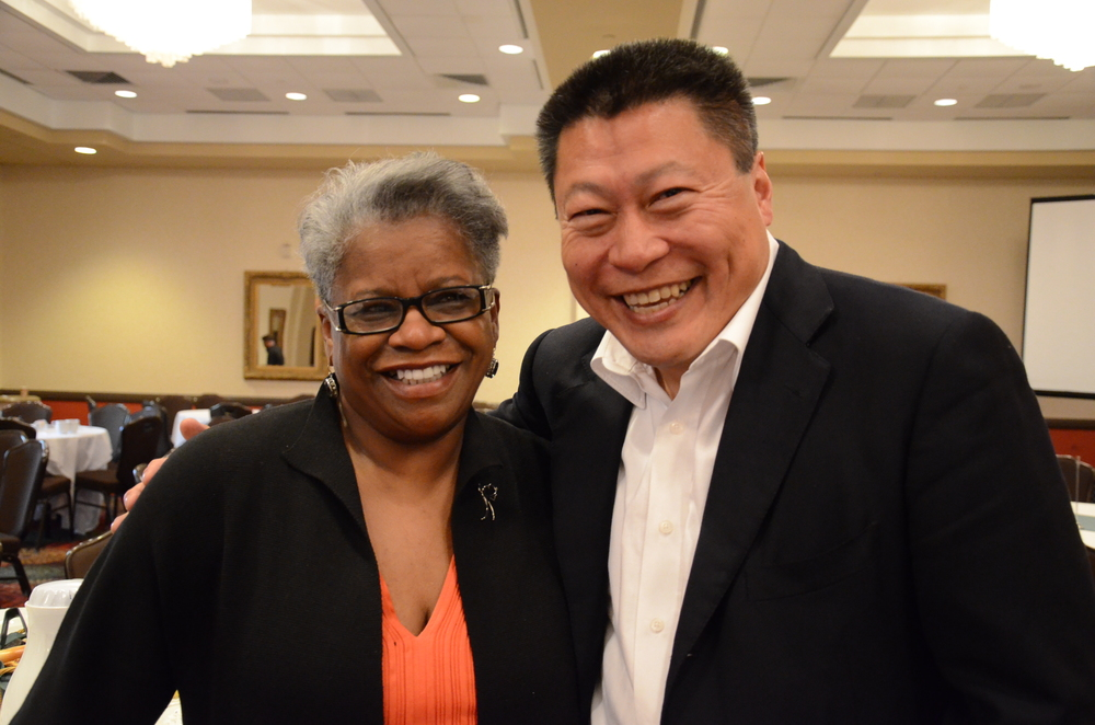 Senator Marilyn Moore and Senator Tony Hwang