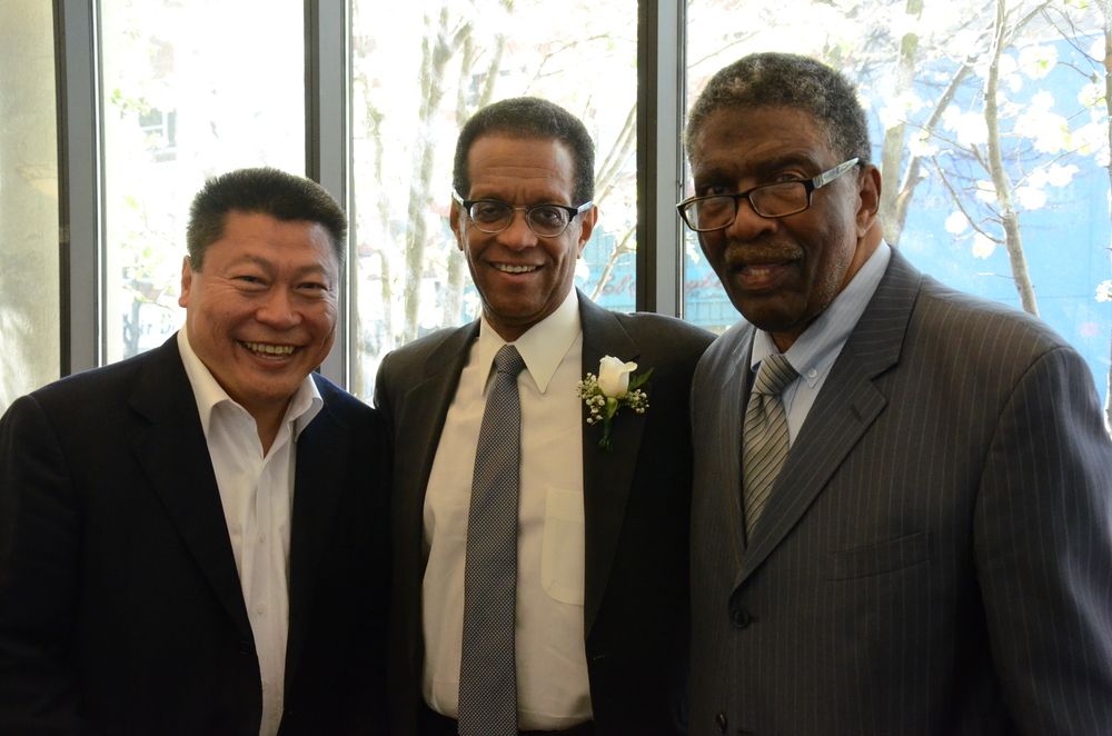 Senator Tony Hwang, Keynote Speaker Bob Herbert and President and CEO of ABCD, Inc. Charles Tisdale