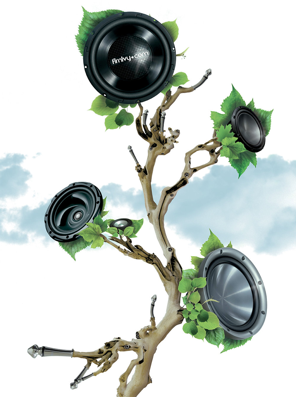 Sub woofer tree