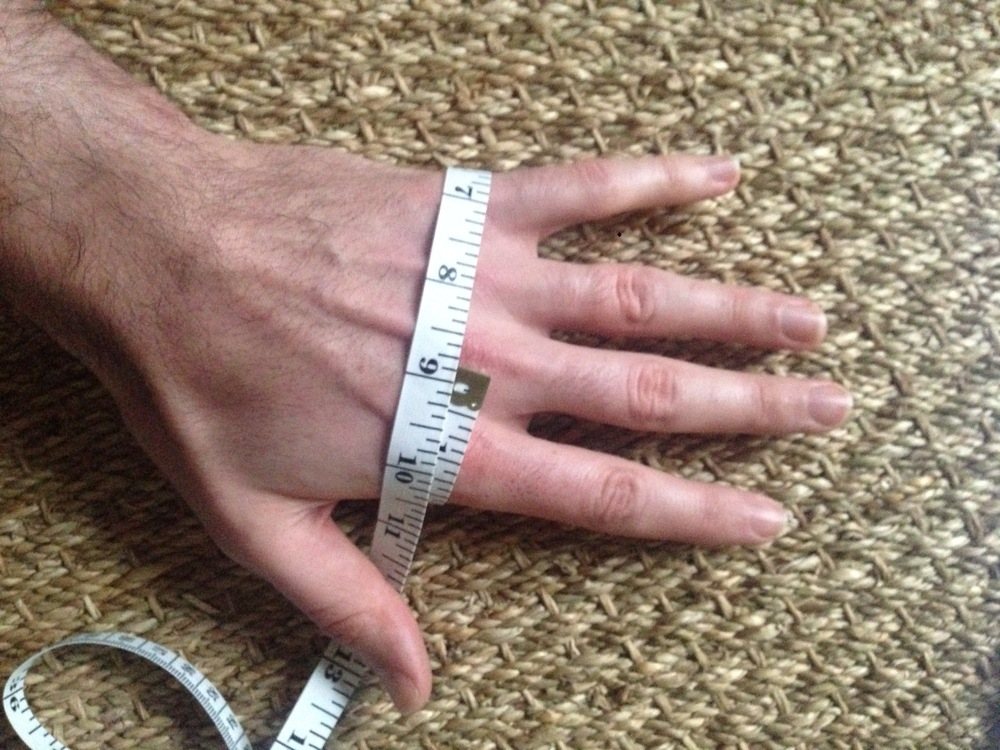 Measure your knuckles