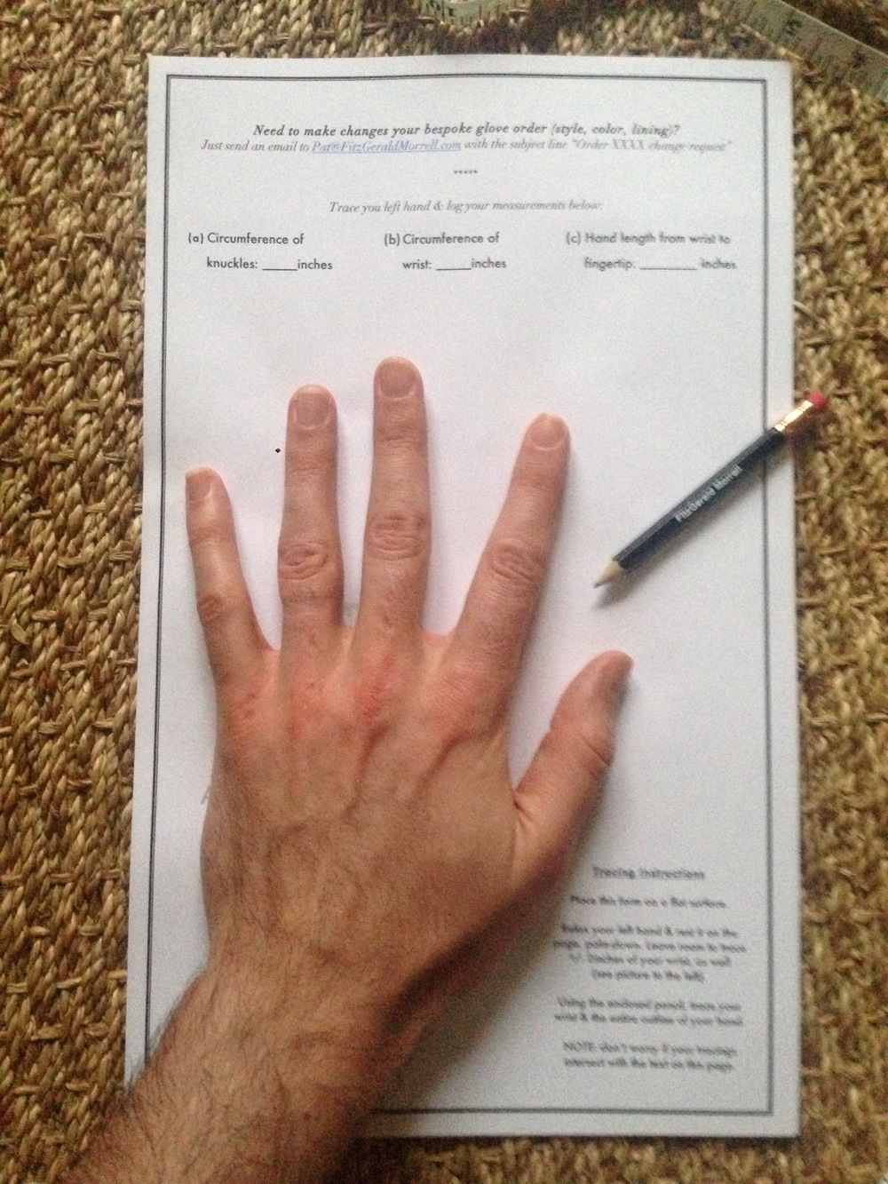 Trace left hand